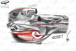 McLaren MP4-22 2007 sidepod detail