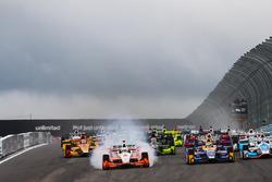 Start: Alexander Rossi, Herta - Andretti Autosport Honda leads