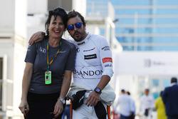 Fernando Alonso, McLaren, Pressesprecherin Silvia Hoffer Frangipane