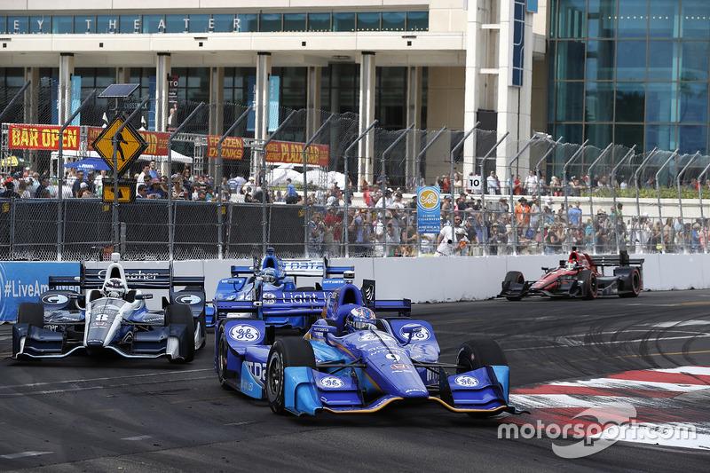 Max Chilton, Chip Ganassi Racing Honda, Scott Dixon, Chip Ganassi Racing Honda, Tony Kanaan, Chip Ga