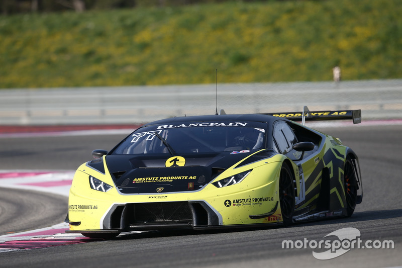 #77 Barwell Motorsport, Lamborghini Huracan GT3: Adrian Amstutz, Martin Kodric, Patrick Kujala, Marco Mapelli, Marco Mapelli