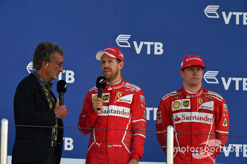 Eddie Jordan, Channel 4 F1 TV talks, Sebastian Vettel, Ferrari and Kimi Raikkonen, Ferrari
