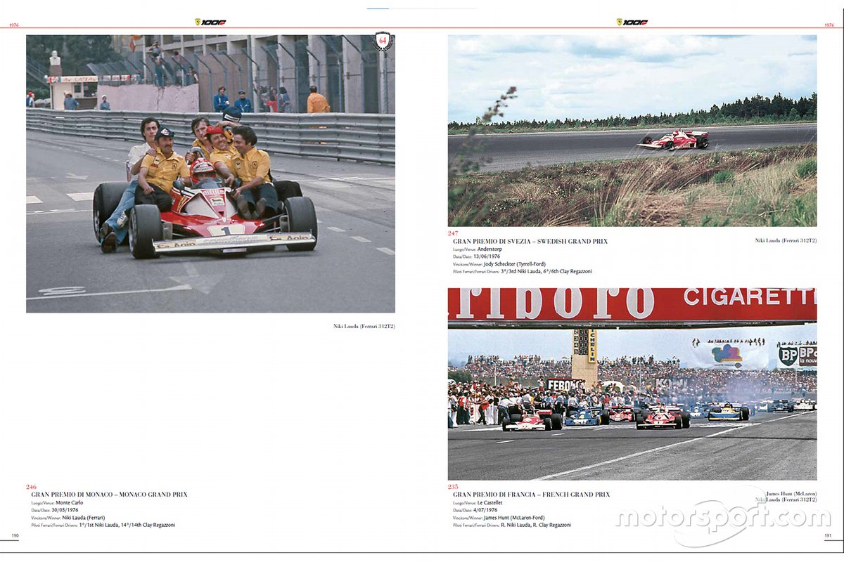 Een pagina van Ferrari 1000 GP - The Official Book