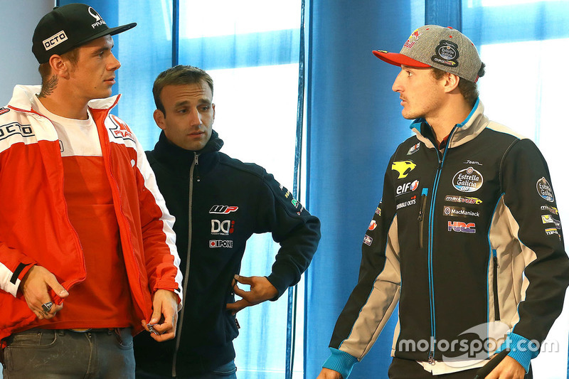 Scott Redding, Pramac Racing, Johann Zarco, Ajo Motorsport and Jack Miller, Marc VDS Racing Honda