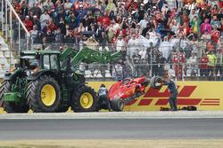 Sebastian Vettel; Ferrari SF71H crashed out of the lead