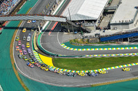 Vista aérea da prova da Stock Car em Interlagos