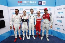 José María López, Dragon Racing, Sam Bird, DS Virgin Racing, Sébastien Buemi, Renault e.Dams, Felix Rosenqvist, Mahindra Racing, Lucas di Grassi, Audi Sport ABT Schaeffler