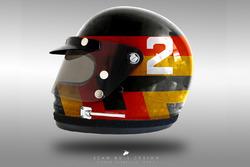 Stoffel Vandoorne 1970's helmet concept
