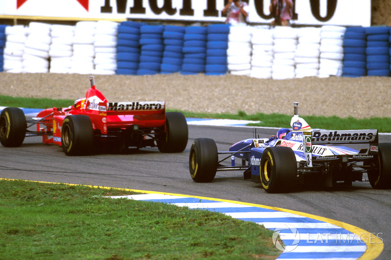 Jacques Villeneuve, Williams FW19 ve Michael Schumacher, Ferrari F310B