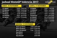 Jadwal MotoGP Valencia 2017
