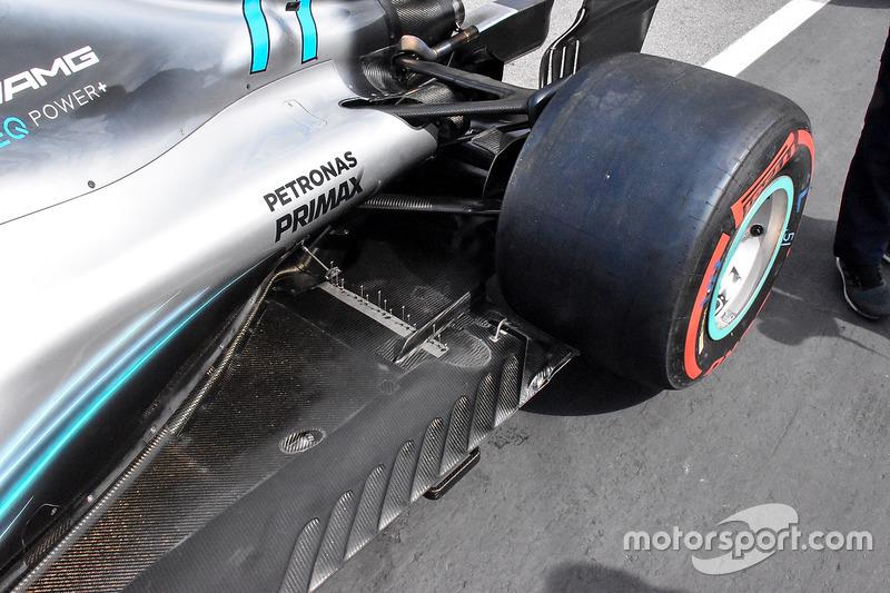 Детали задней части Mercedes F1 W09