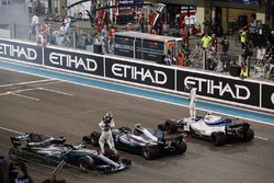 Lewis Hamilton, Mercedes-Benz F1 W08  and Valtteri Bottas, Mercedes-Benz F1 W08  celebrate in parc ferme
