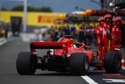 Sebastian Vettel, Ferrari SF71H, comes into the pits during Qualifying