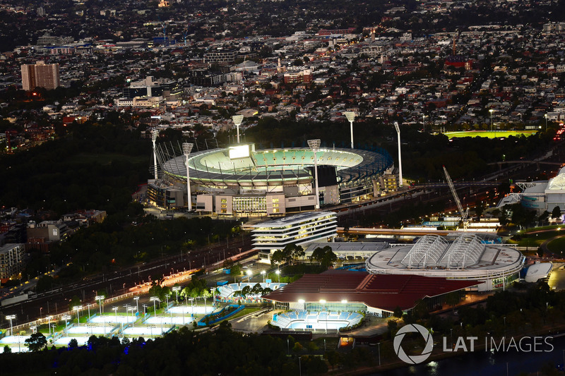 Atmosfer Melbourne şehir genel görünüm