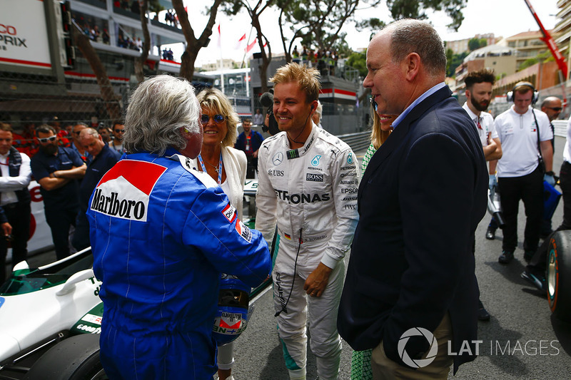 Keke and Nico Rosberg with Prince Albert of Monaco