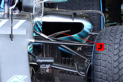 Mercedes AMG F1 W09 detalle de entrada lateral