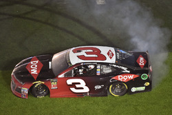 Austin Dillon, Richard Childress Racing Chevrolet Camaro celebrates his win