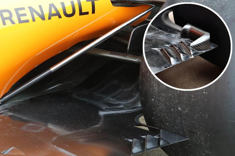McLaren MCL33, padlólemez összevetése