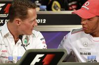 Міхаель Шумахер, Mercedes AMG, та Льюіс Хемілтон, McLaren