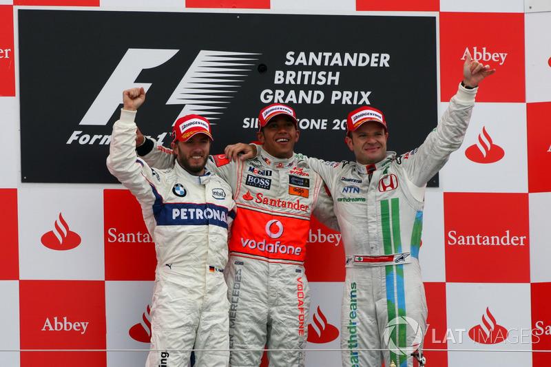 Гран При Великобритании-2008 примечателен двумя вещами: в той гонке Баррикелло стал третьим при старте с 16-й позиции, а Хэмилтон выиграл, опередив на финише ставшего вторым Хайдфельда более чем на минуту