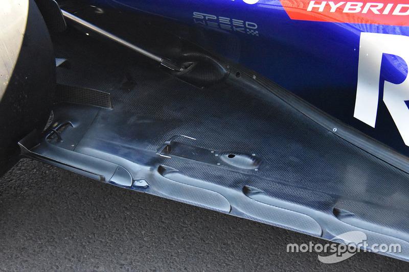 Des détails de carrosserie de la Toro Rosso STR13