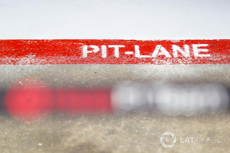A pit-lane decal