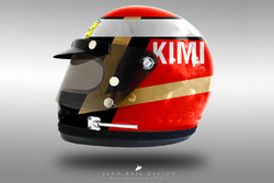 Kimi Raikkonen 1970's helmet concept