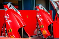 Engine covers of Sebastian Vettel, Ferrari and Kimi Raikkonen, Ferrari