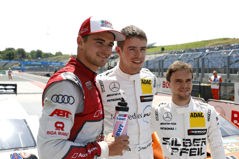 Top3 after qualifying: Pole position for Paul Di Resta, Mercedes-AMG Team HWA, Nico Müller, Audi Sport Team Abt Sportsline, Lucas Auer, Mercedes-AMG Team HWA