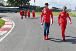 Daniil Kvyat, Ferrari walks the track
