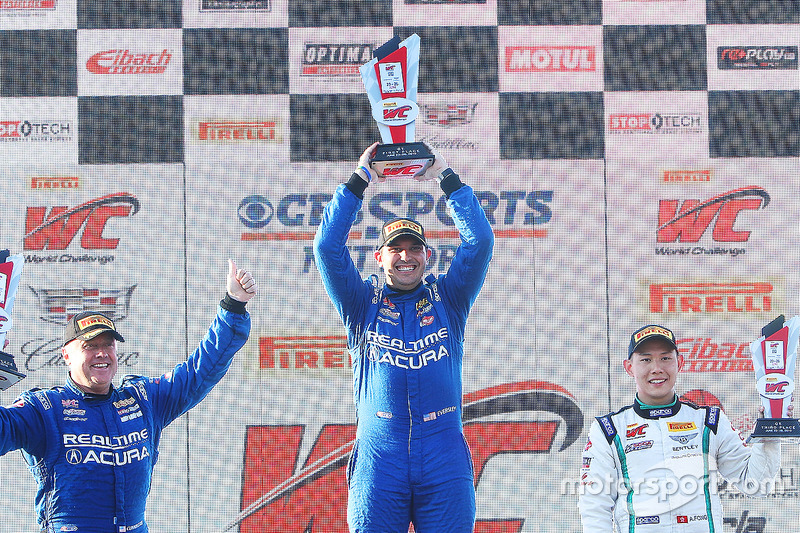 GT podyum: 1. Ryan Eversley, RealTime Racing, 2. Peter Cunningham, RealTime Racing, 3. Adderly Fong, Bentley Team Absolute