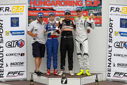 Podium: winner Jehan Daruvala, Josef Kaufmann Racing, second place Robert Shwartzman, Josef Kaufmann Racing, third place Ferdinand Habsburg, Fortec Motorsports