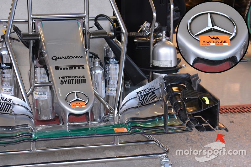 Mercedes AMG F1 W07 Hybrid, nose cone
