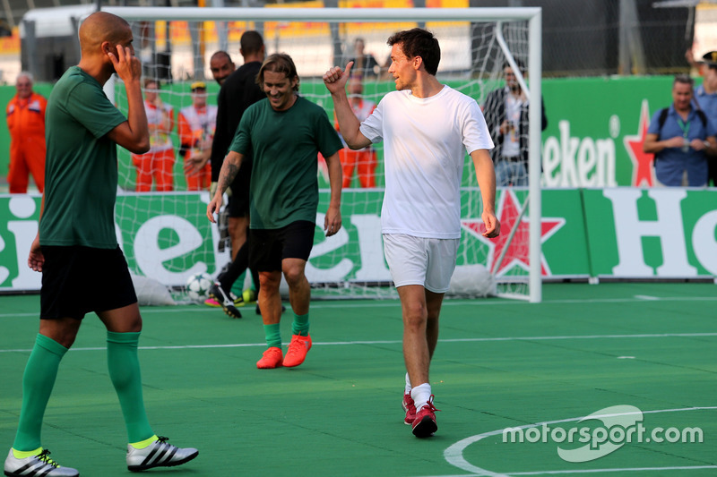 Heineken charity football game, Jolyon Palmer, Renault Sport F1 Team