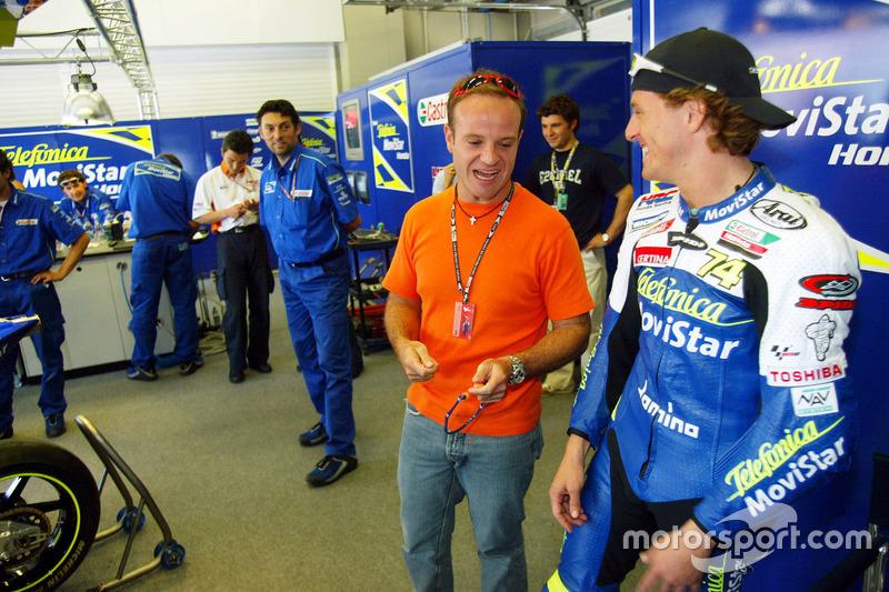 Rubens Barichello con Sete Gibernau, Telefónica Movistar Honda