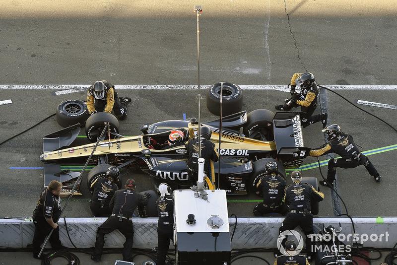 James Hinchcliffe, Schmidt Peterson Motorsports Honda pit stop