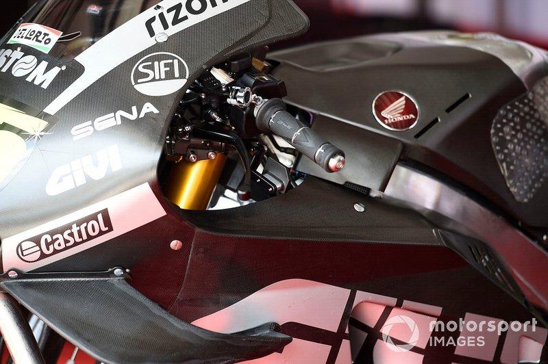 Freno trasero de Cal Crutchlow, LCR Honda Castrol