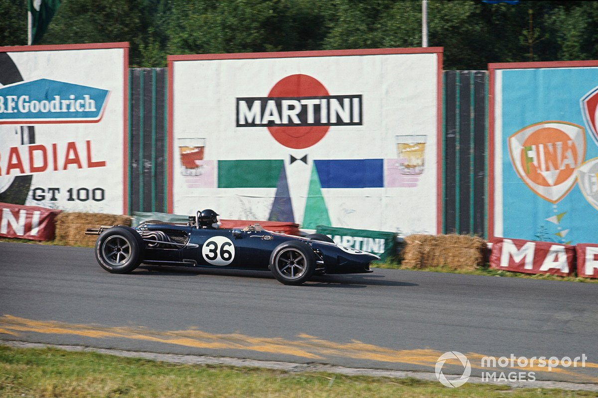 Gurney's beautiful Eagle-Weslake heads for that famous victory at Spa in 1967.