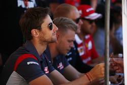 Romain Grosjean, Haas F1 Team, Kevin Magnussen, Haas F1 Team, Valtteri Bottas, Mercedes AMG F1 and Sebastian Vettel, Ferrari