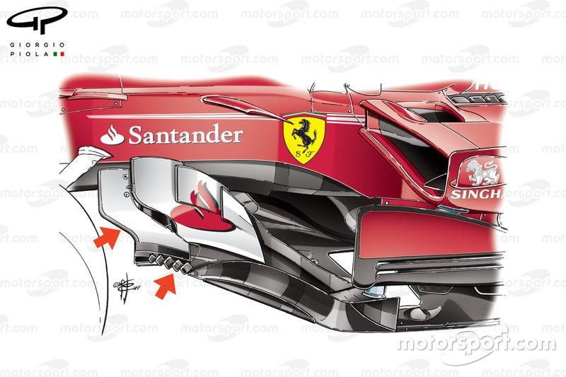 Ferrari SF70H nuovo bargeboard, GP della Malesia