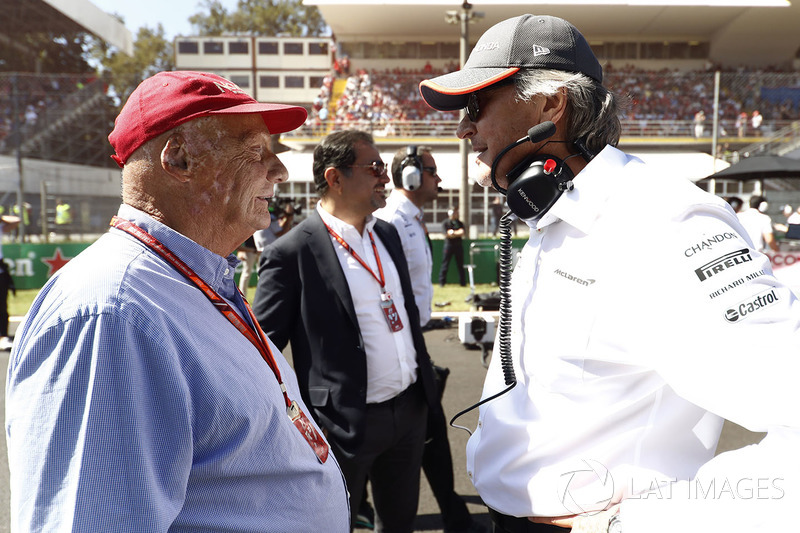 Niki Lauda, Non-Executive Chairman, Mercedes AMG F1, Mansour Ojjeh, McLaren