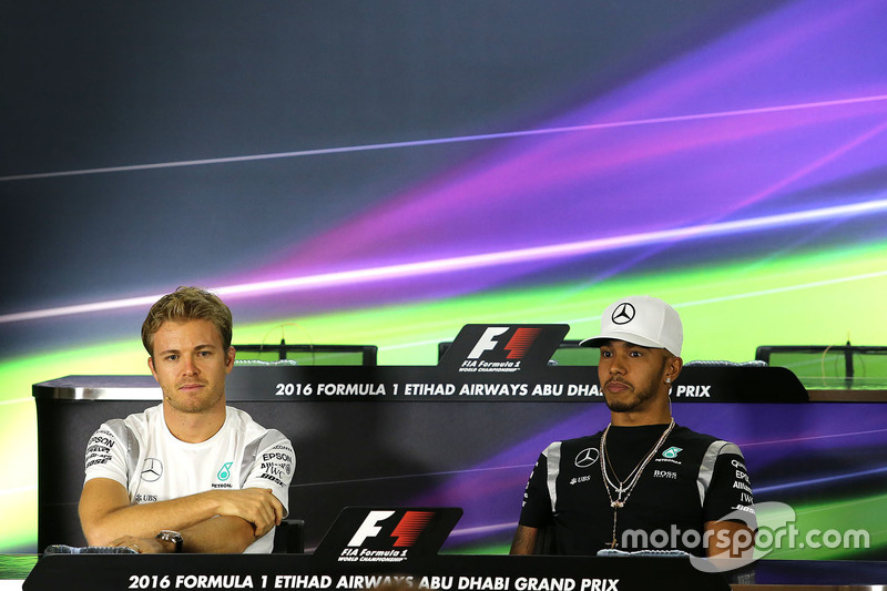 Nico Rosberg, Mercedes AMG F1, Lewis Hamilton, Mercedes AMG F1  during the press conference