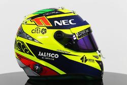 Le casque de Sergio Perez, Sahara Force India F1