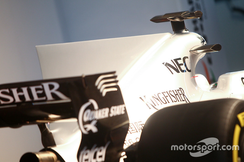 Force India F1 VJM10: Finne an der Motorhaube