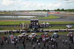 Podium: Race winner Norbert Michelisz, M1RA, Honda Civic TCR, second place Dusan Borkovic, GE-Force, Alfa Romeo Giulietta TCR, third place Attila Tassi, M1RA, Honda Civic TCR