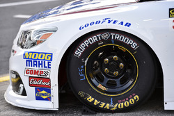 Dale Earnhardt Jr., Hendrick Motorsports Chevrolet with Support our Troops Goodyear tires