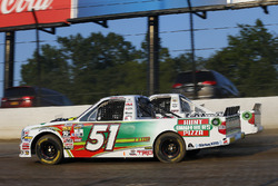 Harrison Burton, Kyle Busch Motorsports Toyota, JJ Yeley, Chevrolet, Justin Haley, GMS Racing Chevrolet