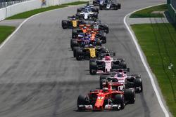 Sebastian Vettel, Ferrari SF70H au départ