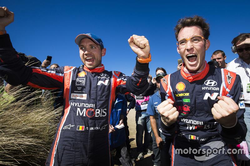 Победители Ралли Аргентина Тьерри Невилль и Николя Жильсуль, Hyundai Motorsport