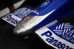 Takuma Sato, Andretti Autosport Honda rubber covered nose cone in victory lane